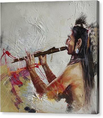 First Nations 40 Canvas Print by Corporate Art Task Force