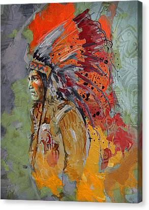 First Nations 9 B Canvas Print by Corporate Art Task Force