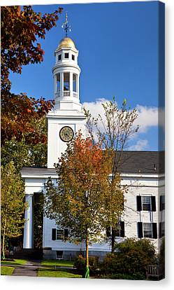 First Parish Church, Members Included Canvas Print by Brian Jannsen