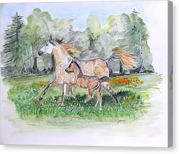 First Run Canvas Print by Janina  Suuronen