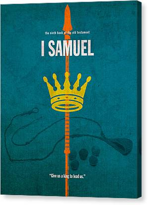 First Samuel Books Of The Bible Series Old Testament Minimal Poster Art Number 9 Canvas Print by Design Turnpike