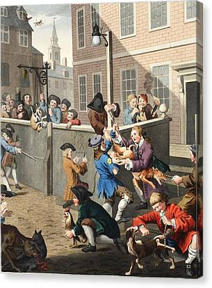 First Stage Of Cruelty, Illustration Canvas Print by William Hogarth