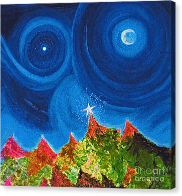 First Star Christmas Wish By Jrr Canvas Print by First Star Art