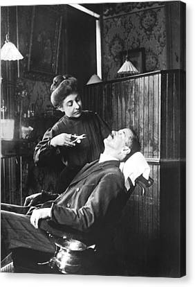First Women Dentists Canvas Print by Underwood Archives