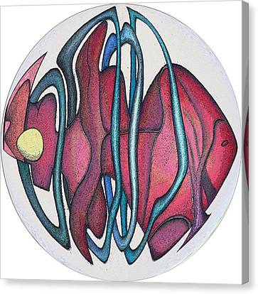 Fish Abstract Canvas Print by George Curington