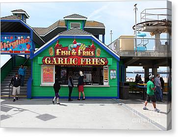Fish And Fries At The Santa Cruz Beach Boardwalk California 5d23687 Canvas Print by Wingsdomain Art and Photography