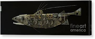 Fish Dx Canvas Print by Vladimiras Nikonovas