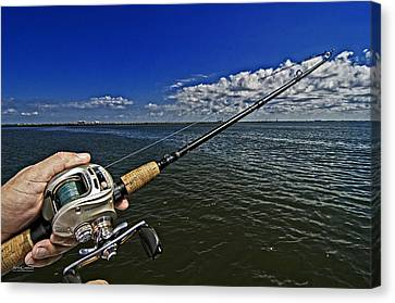 Fish On Canvas Print by Andy Crawford