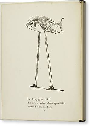 Fish On Stilts Canvas Print by British Library