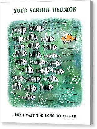 Fish School Reunion Canvas Print by Mark Armstrong