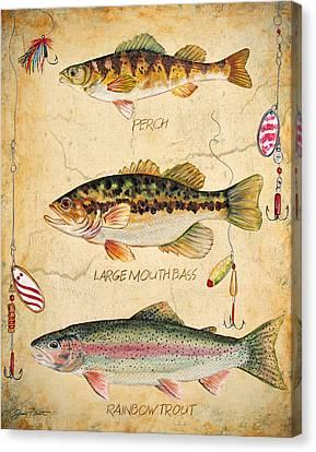 Fish Trio-b Canvas Print by Jean Plout