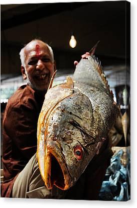 Fisherman Canvas Print by Money Sharma