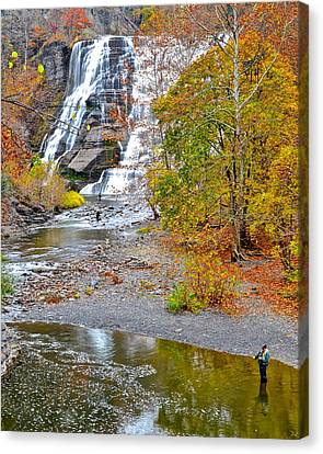 Fisherman One With Nature Canvas Print by Frozen in Time Fine Art Photography