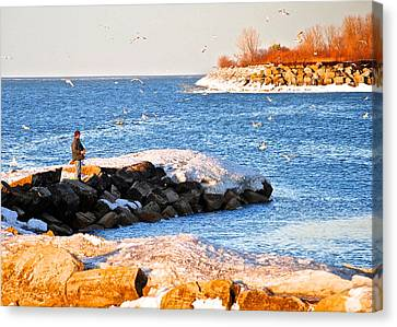 Fishermans Cove Canvas Print by Frozen in Time Fine Art Photography