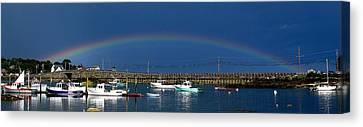 Fishermen's Rainbow Canvas Print by Donnie Freeman