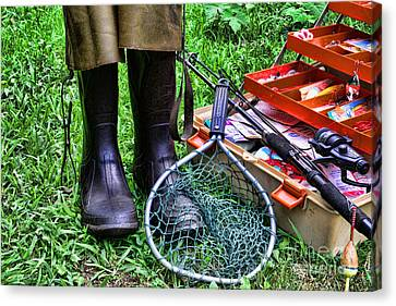 Fishing - Better Than Working Canvas Print by Paul Ward