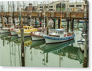 Fishing Boat 2 Canvas Print by Ken Kobe
