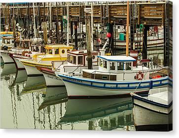 Fishing Boat 3 Canvas Print by Ken Kobe