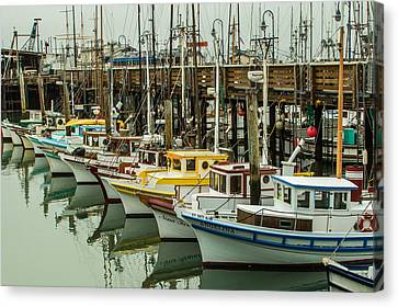 Fishing Boat 4 Canvas Print by Ken Kobe