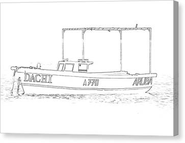 Fishing Boat Dachi Of The Caribbean II Canvas Print by David Letts