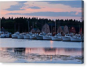 Fishing Boats At Malpeque Harbour Canvas Print by Matt Dobson