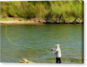 Fishing Lake Taneycomo Canvas Print by Jeff Kolker