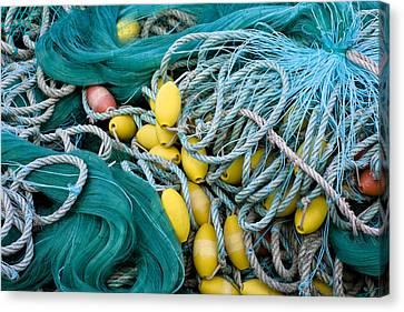 Fishing Nets Canvas Print by Frank Tschakert