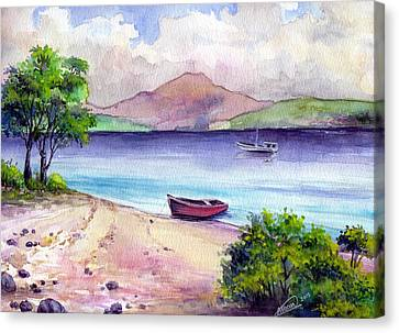 Fishing Spot Canvas Print by Alban Dizdari
