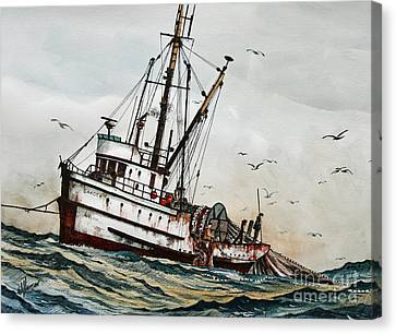 Fishing Vessel Dakota Canvas Print by James Williamson