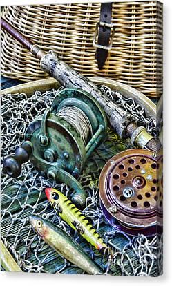 Fishing - Vintage Fishing Gear Canvas Print by Paul Ward