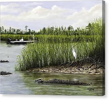 Fishingthe Buffalo Canvas Print by Jim Ziemer