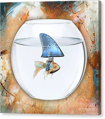 Fishy Story Canvas Print by Marvin Blaine