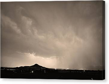 Fist Bump Of Power Sepia Canvas Print by James BO  Insogna