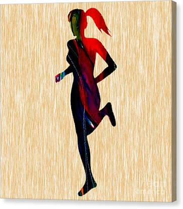 Fitness Runner Canvas Print by Marvin Blaine