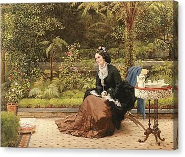 Five Oclock Canvas Print by George Dunlop Leslie