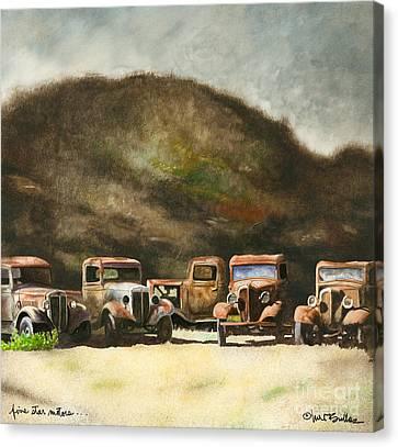 Five Star Motors... Canvas Print by Will Bullas