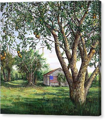 Flag House Canvas Print by AnnaJo Vahle