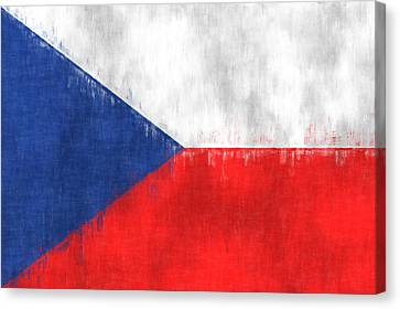 Flag Of Czech Republic Canvas Print by World Art Prints And Designs