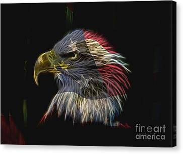 Flag Of Honor Canvas Print by Deborah Benoit
