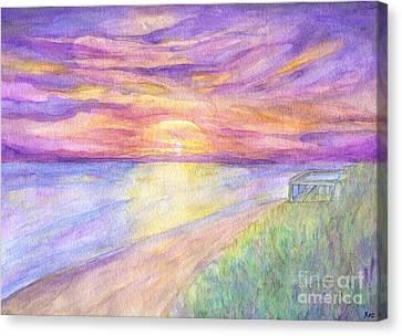 Flagler Beach Sunrise Canvas Print by Roz Abellera Art