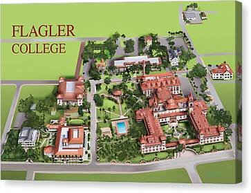 Flagler College Canvas Print by Rhett and Sherry  Erb