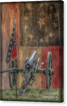 Flags Of The Confederacy Canvas Print by Randy Steele