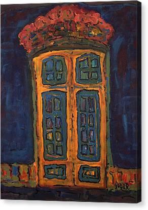 Flamboyant Door Canvas Print by Oscar Penalber