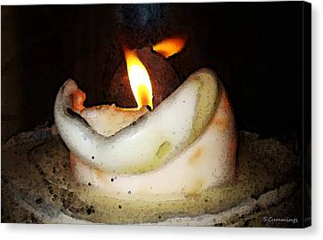 Flame Candle Art Canvas Print by Sharon Cummings