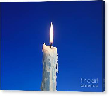 Flame Of A Candle Canvas Print by Martyn F. Chillmaid