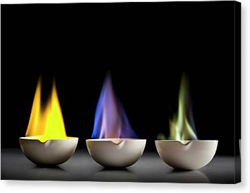 Flame Tests Canvas Print by Science Photo Library