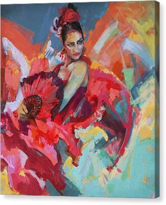 Flamenco 49 Canvas Print by Maryam Mughal