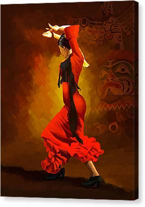 Flamenco Dancer 0013 Canvas Print by Catf