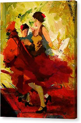 Flamenco Dancer 019 Canvas Print by Catf