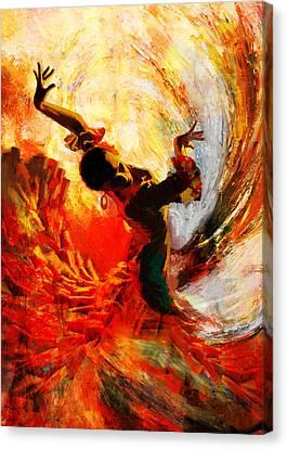 Flamenco Dancer 021 Canvas Print by Mahnoor Shah